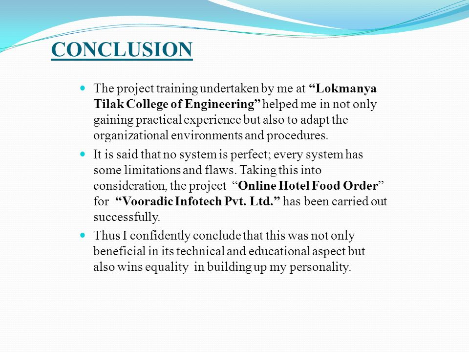 Project Report Online Food order By Atul Deshmukh  - ppt download