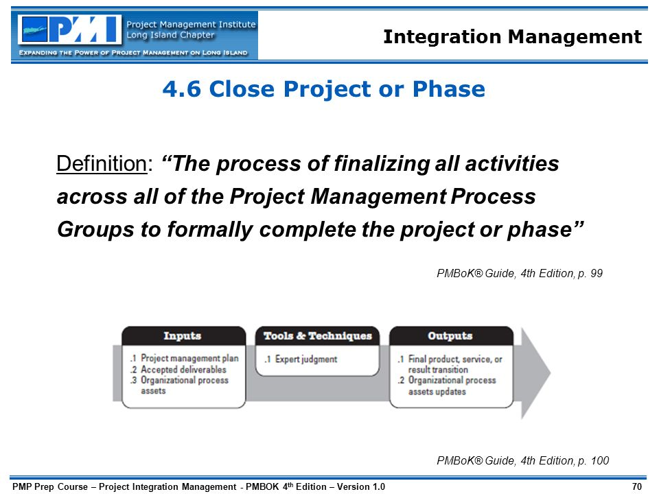 project integration management process pdf