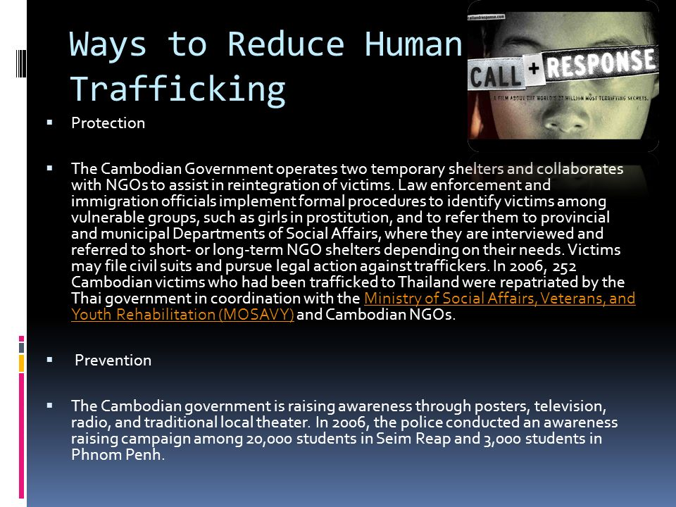 how can we prevent human trafficking