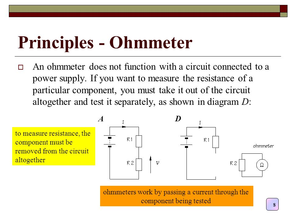 Simple Ohmmeter Circuit Diagram Electrical Wiring Diagrams