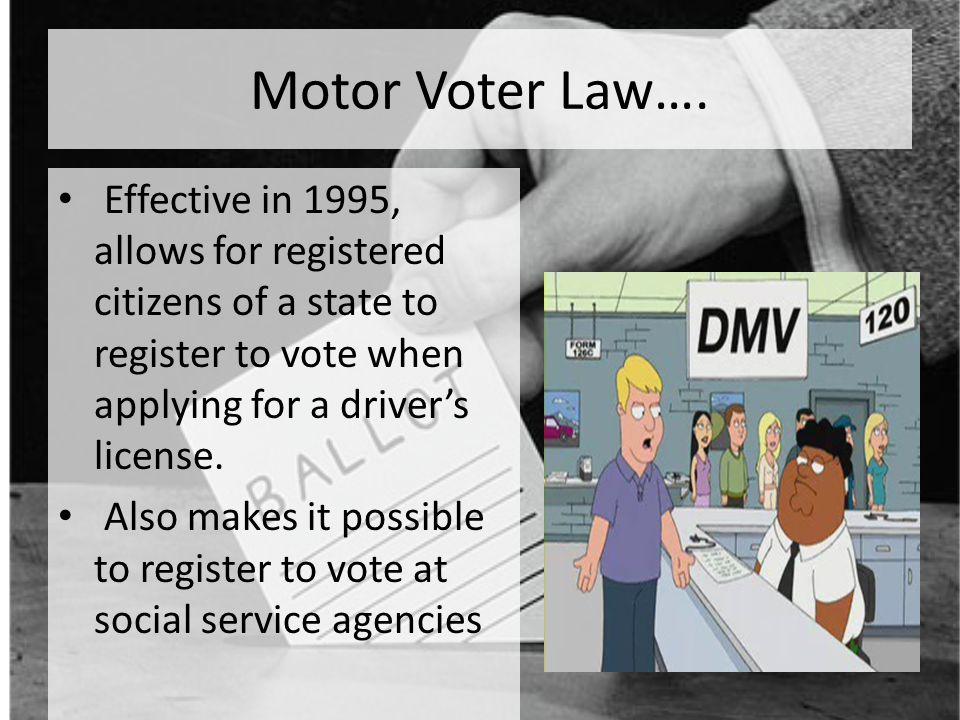 29 Motor Voter Law…