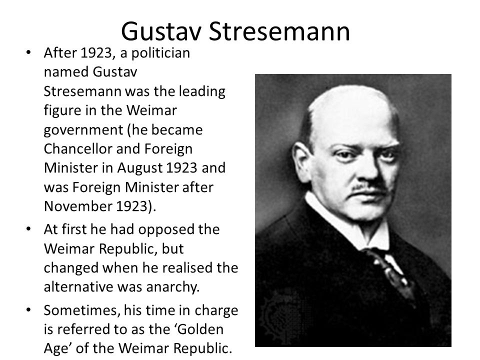 how did stresemann improve germany