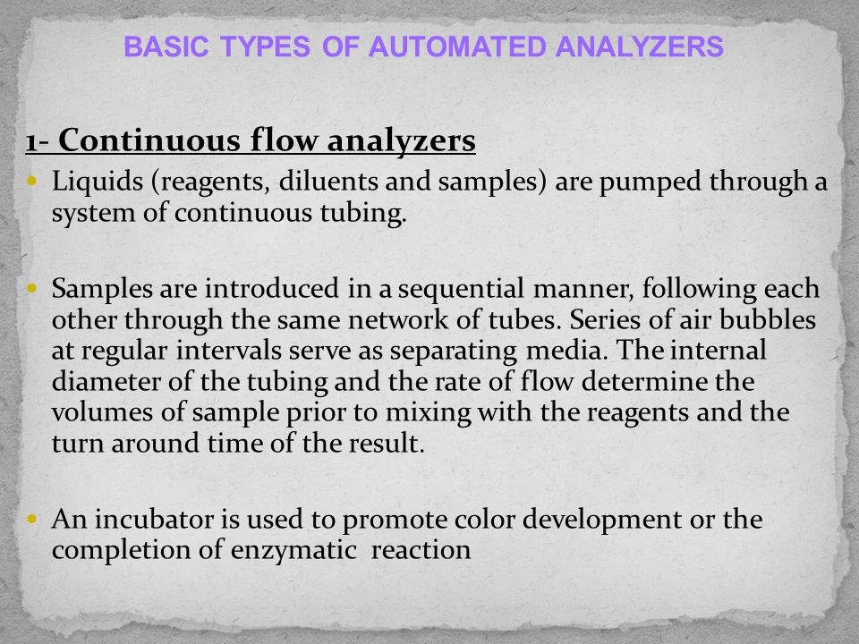 CLINICAL CHEMISTRY AUTO-ANALYZERS - ppt video online download