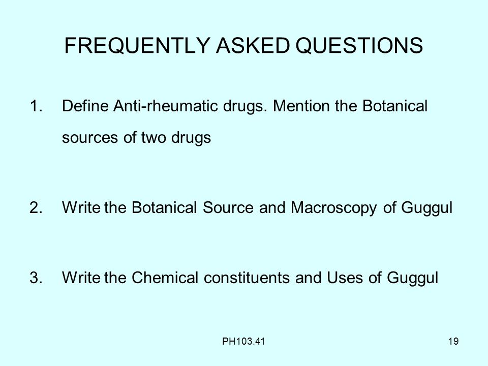 Anti-rheumatics Guggul PH ppt video online download