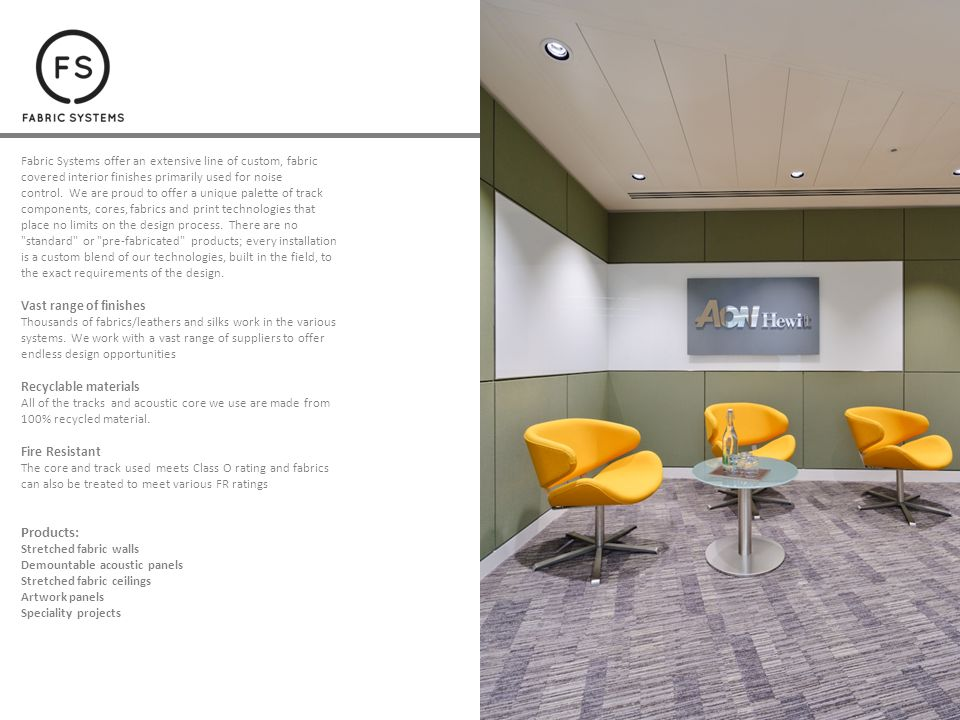 Acoustic Fabric Wall And Ceiling Panels Ppt Download