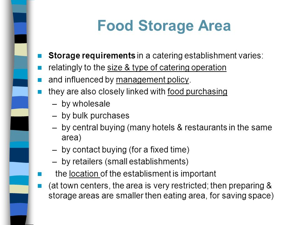 5 Food Storage Area Storage requirements ...  sc 1 st  SlidePlayer & Kitchen departments-storage/preparation/cooking/auxillary - ppt ...