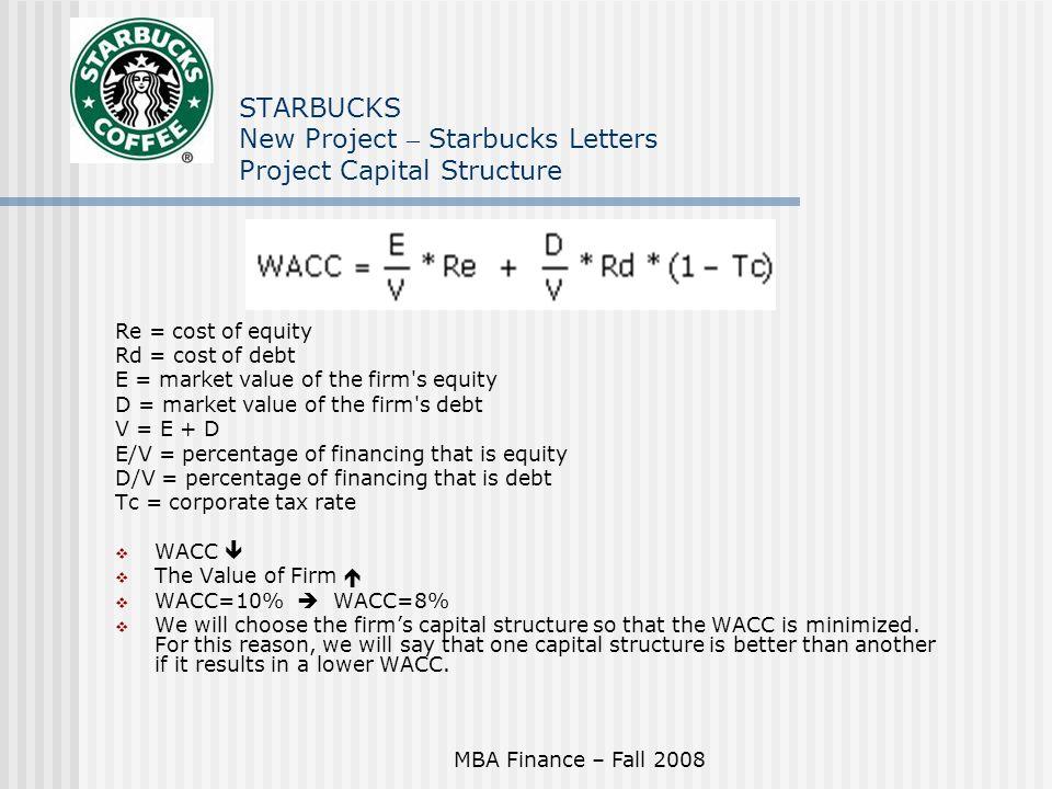 starbucks wacc