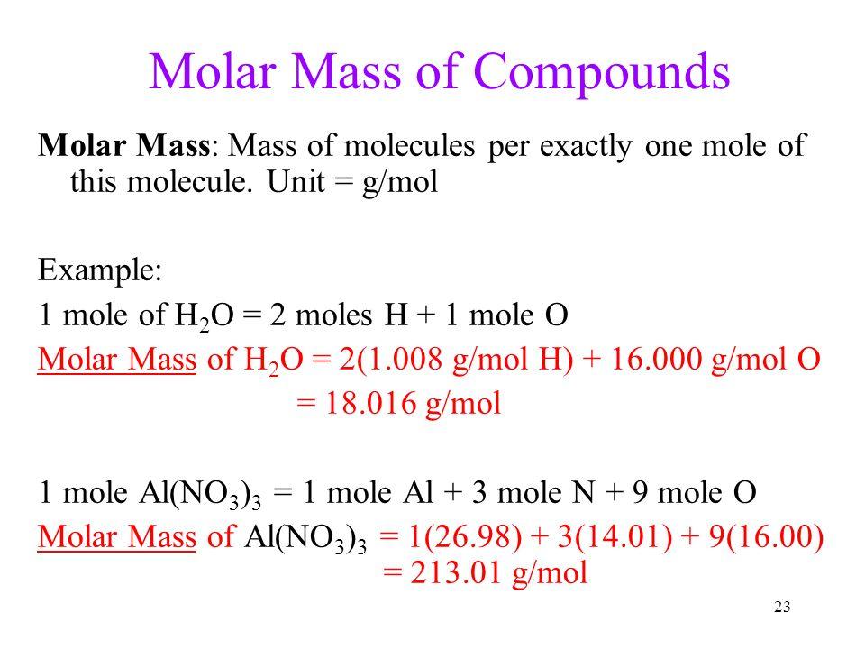 the molar mass of aspirin is