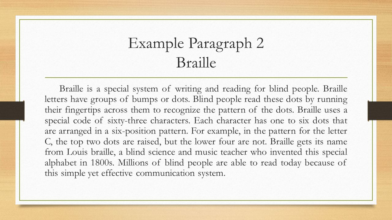 Example paragraph 1 my friend mary is a very kind person she likes example paragraph 2 braille spiritdancerdesigns Image collections