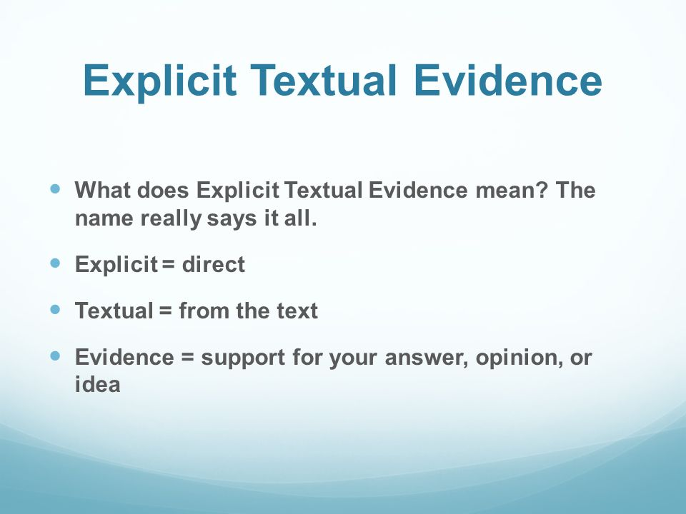 what does evidence mean