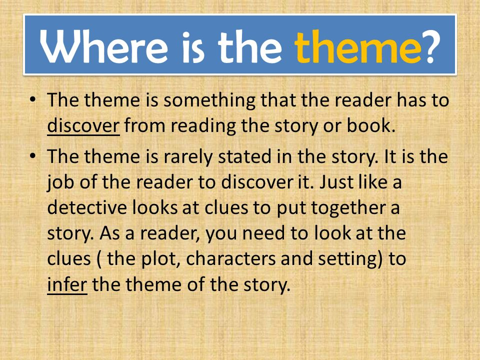 Image result for theme of a story