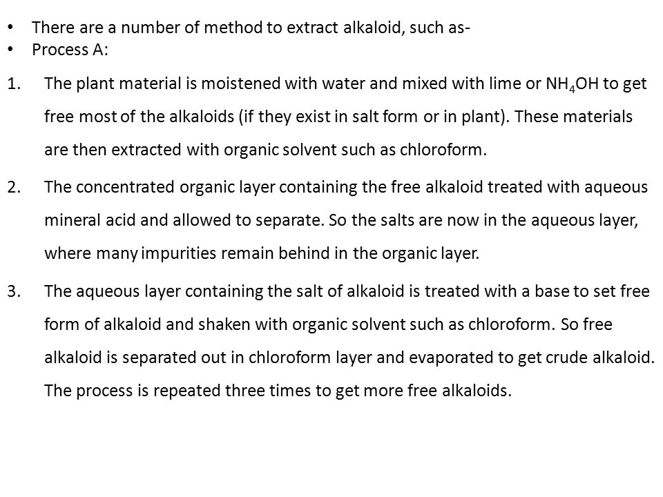 hagers test for alkaloids principle