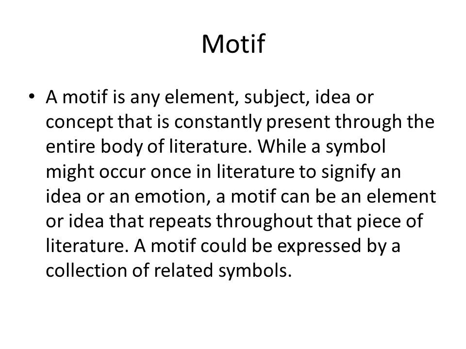 Symbols And Motifs Differences Similarities And How They