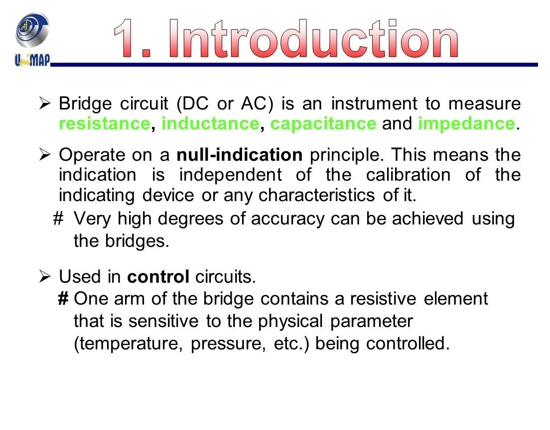 Chapter 5 Dc And Ac Bridges Ppt Video Online Download Solving A Circuit Containing Resistor Inductor In Parallel Introduction Bridge Or Is An Instrument To Measure Resistance