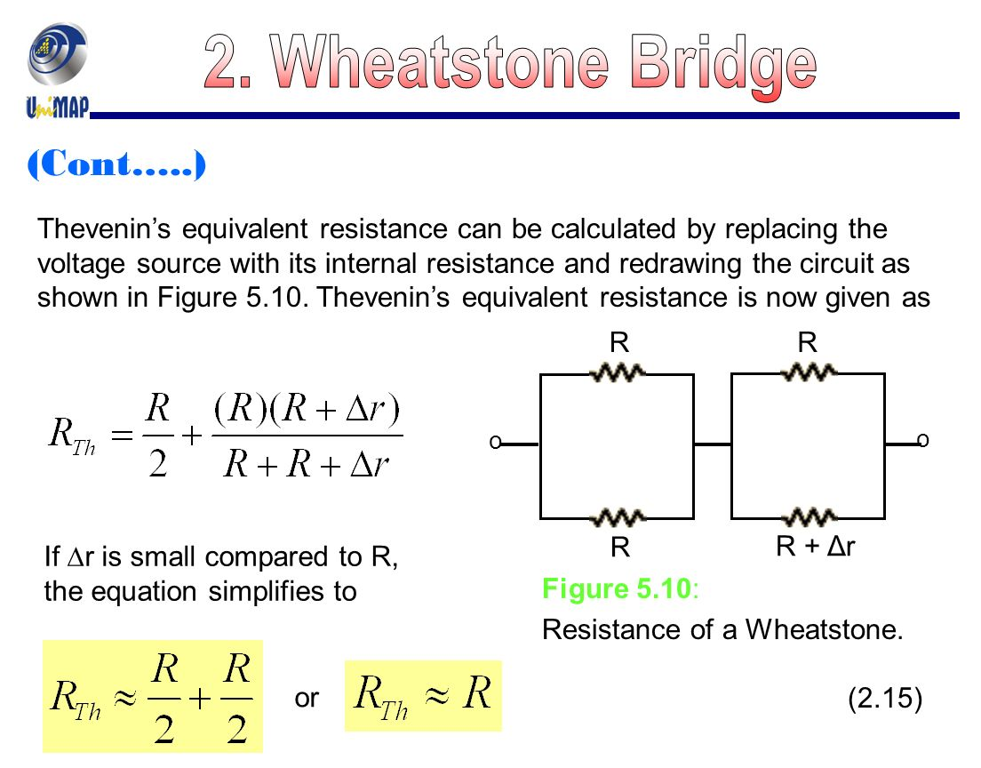 Chapter 5 Dc And Ac Bridges Ppt Video Online Download Wheatstone Bridge Wiring Diagram Cont