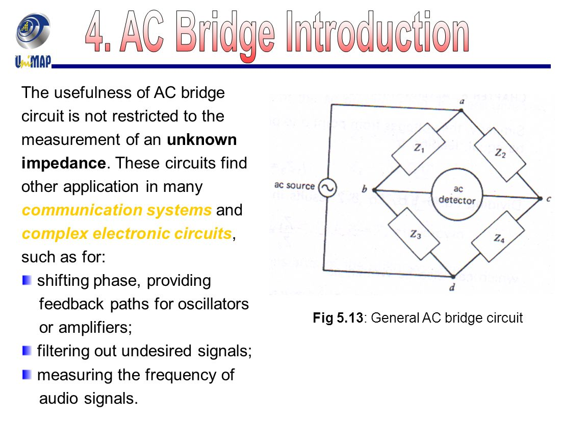 Chapter 5 Dc And Ac Bridges Ppt Video Online Download Impedance Of Rlc Circuit From Phasor Electronics Forum Circuits 28 4