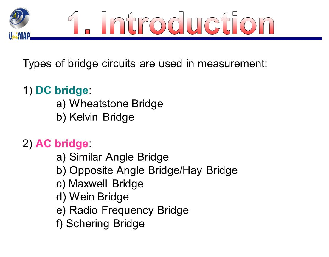Chapter 5 Dc And Ac Bridges Ppt Video Online Download Free Circuit Series 10 Introduction Types Of Bridge Circuits Are Used In Measurement