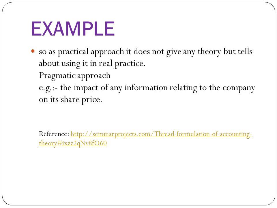 pragmatic theory example