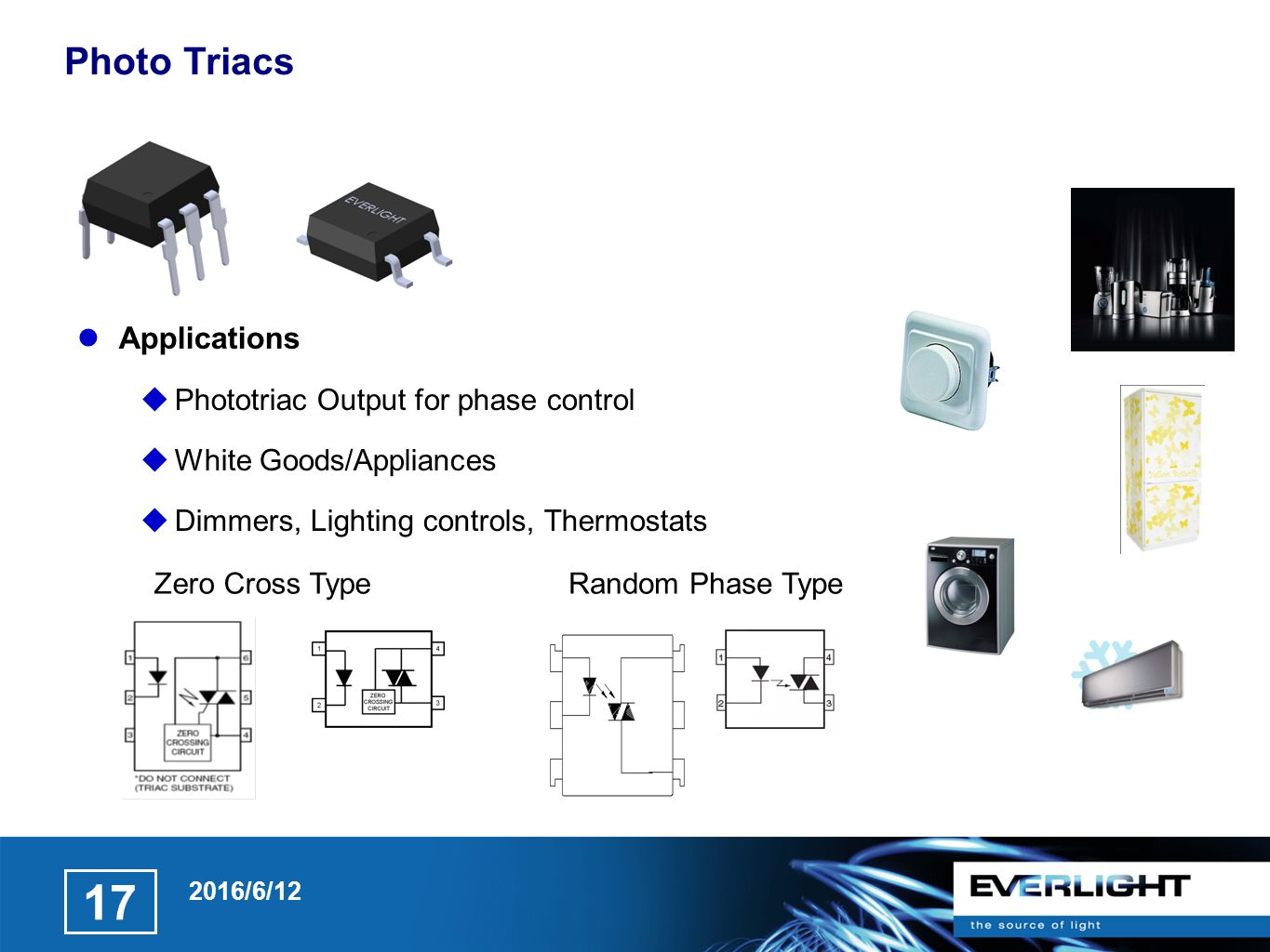 Photo Coupler Ppt Video Online Download Zero Cross Circuit A Or Crossing Is An 17 Triacs Applications Phototriac Output For Phase Control White Goods Appliances Dimmers Lighting Controls Thermostats