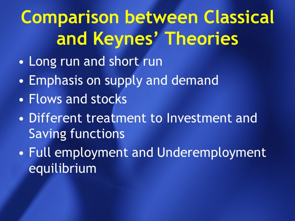 classical and keynesian theory of income and employment
