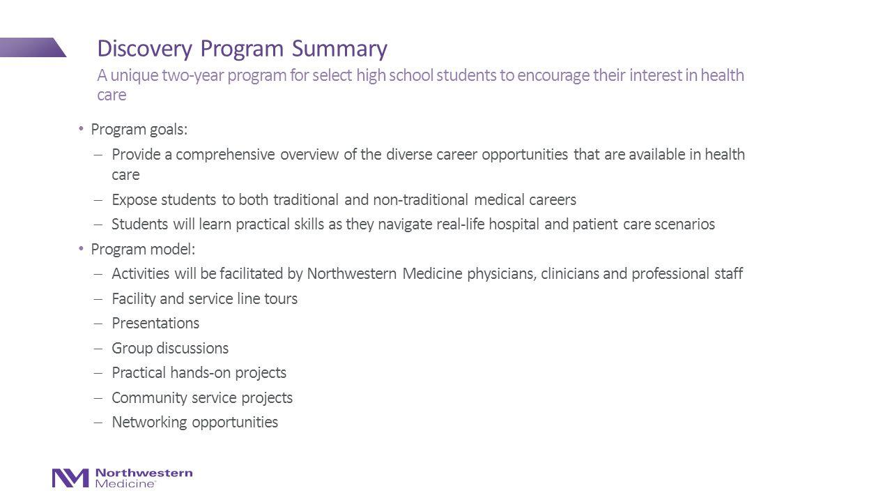 Discovery Program at Northwestern Medicine - ppt video