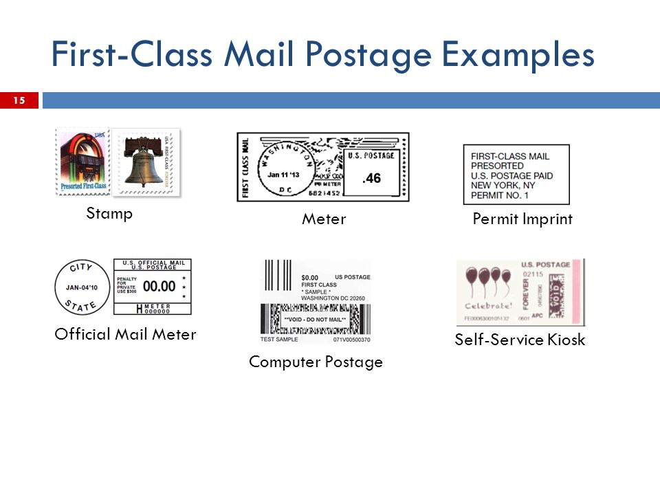 15 First-Class Mail Postage Examples