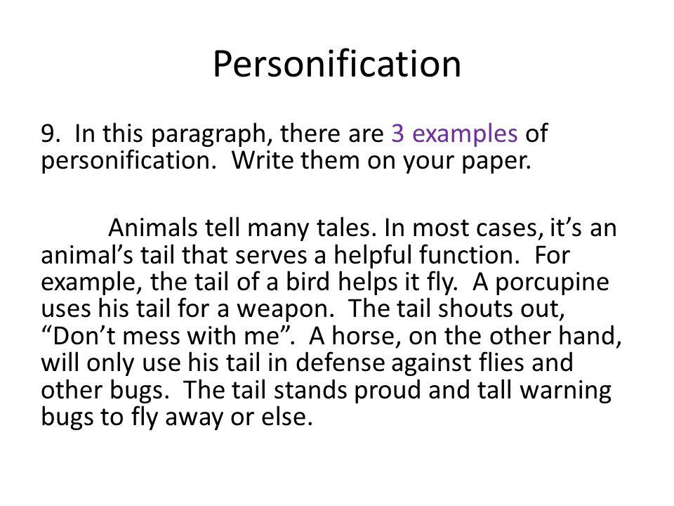 personification paragraph
