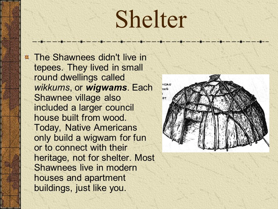 Shawnee Indians This Presentation Was Created Using