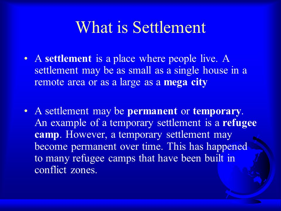 Settlement  - ppt video online download
