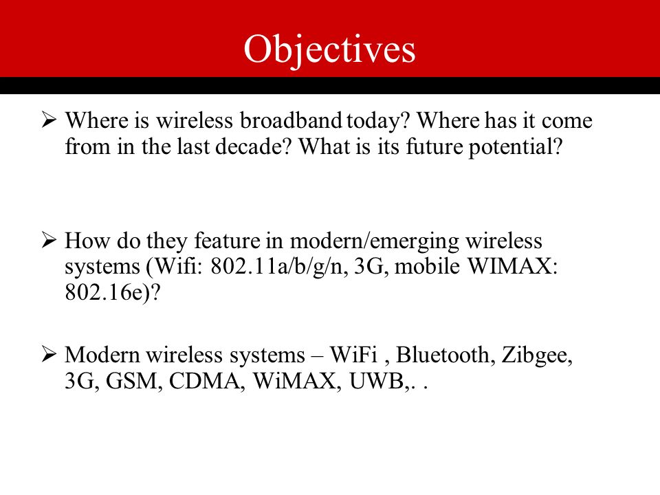 "RECENT TRENDS IN WIRELESS COMMUNICATION"" - ppt video online"