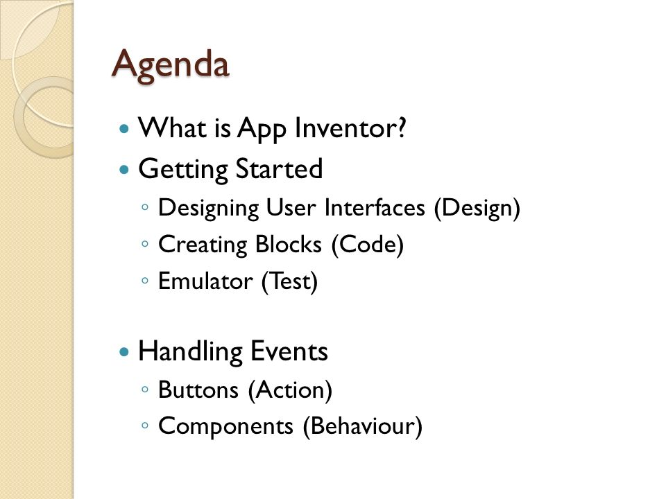 Lesson 1 – Getting Started with App Inventor - ppt video