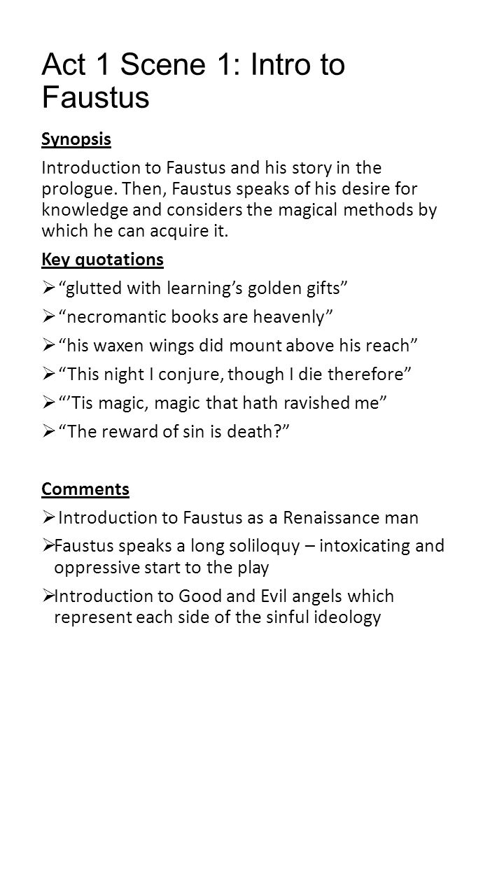 Key Themes Revealed in Doctor Faustus