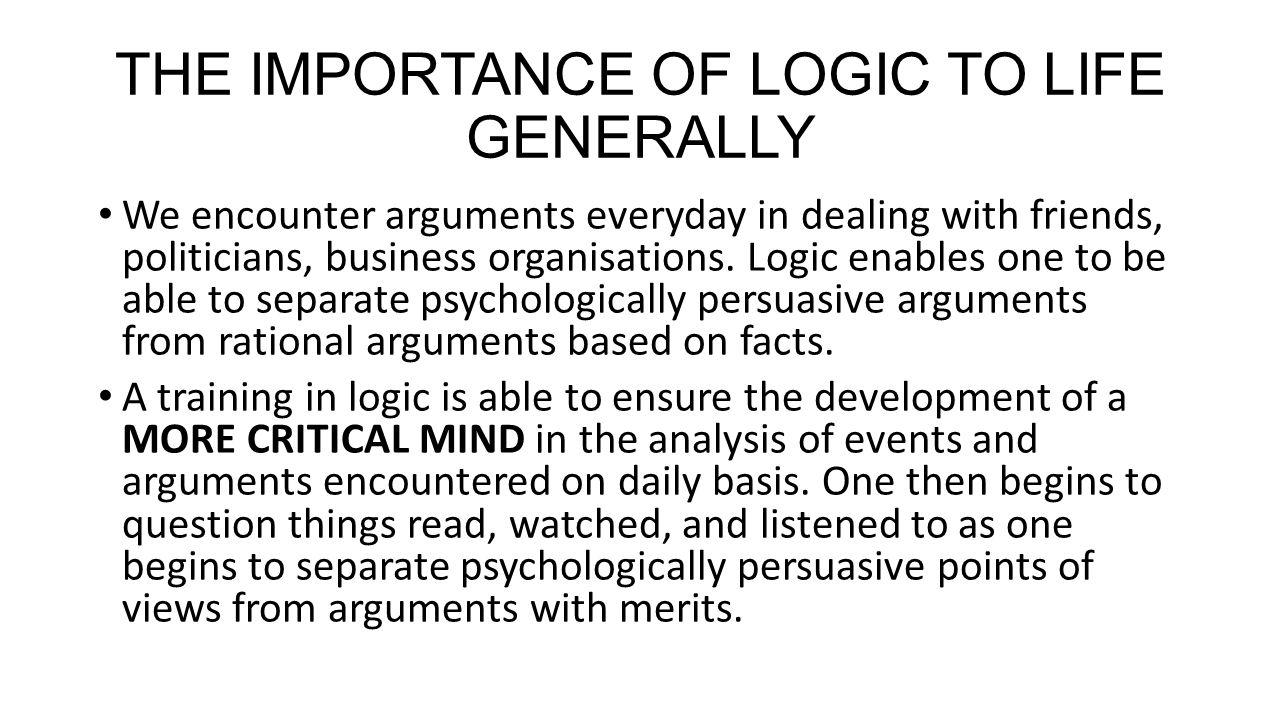 importance of logic