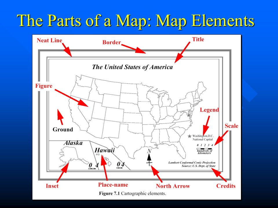 5 main parts of a map Making Maps With Gis Chapter Ppt Video Online Download 5 main parts of a map