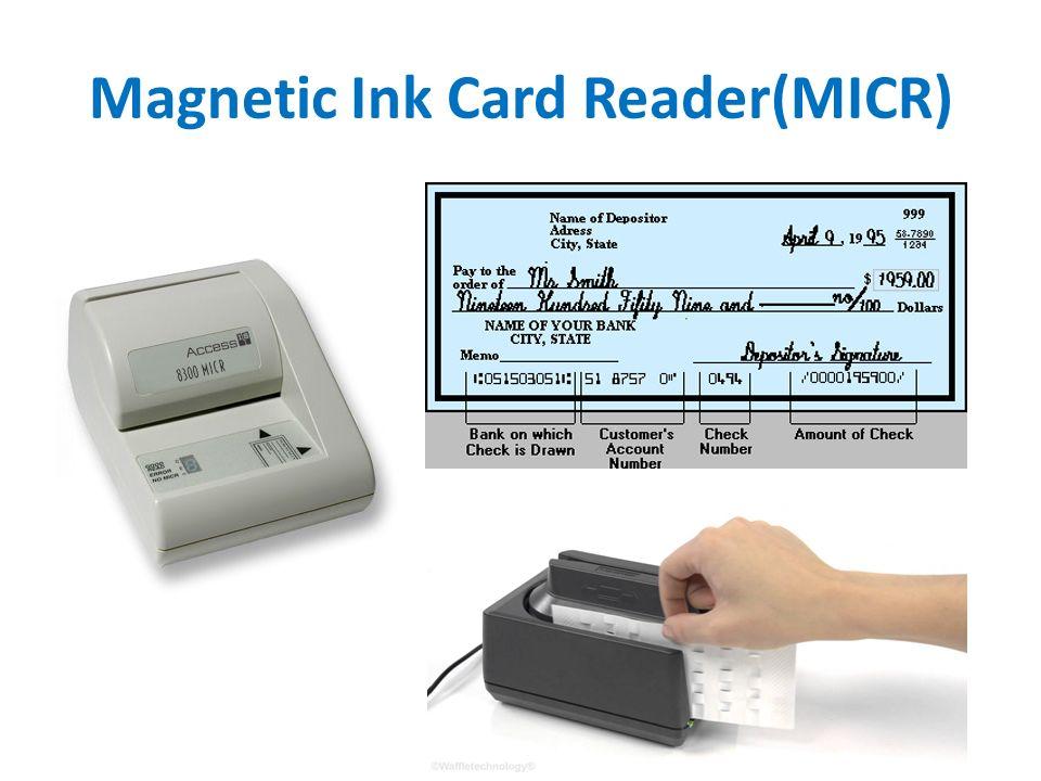 33 Magnetic Ink Card ReaderMICR