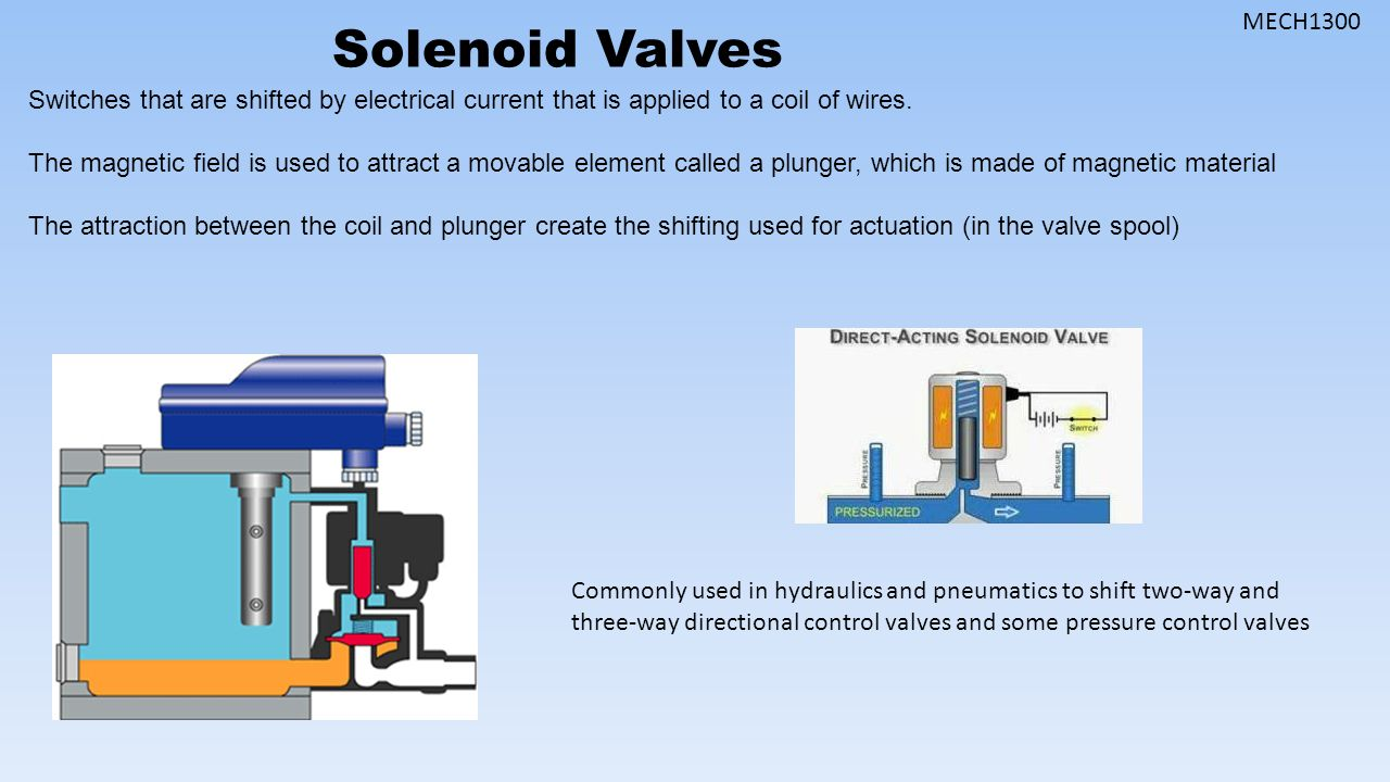 Proportional And Servo Valves Ppt Video Online Download Solenoid Valve Wiring Mech1300 Switches That Are Shifted By Electrical Current Is Applied To A