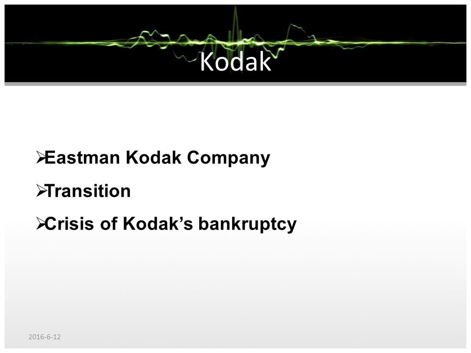 kodak case study: organizational architecture essay Case study: eastman kodak 1 the different factors that motivated kodak to change its organizational architecture are: a stiff competition for many years, eastman kodak had control on the film production.