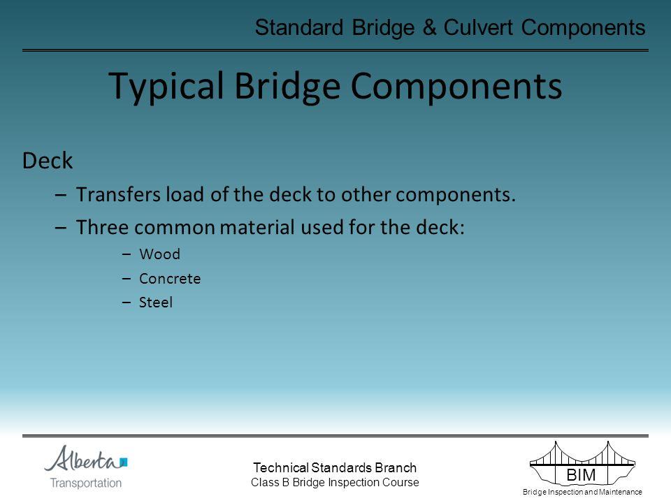 Typical Bridge Components