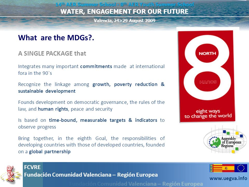 What are the MDGs . A SINGLE PACKAGE that