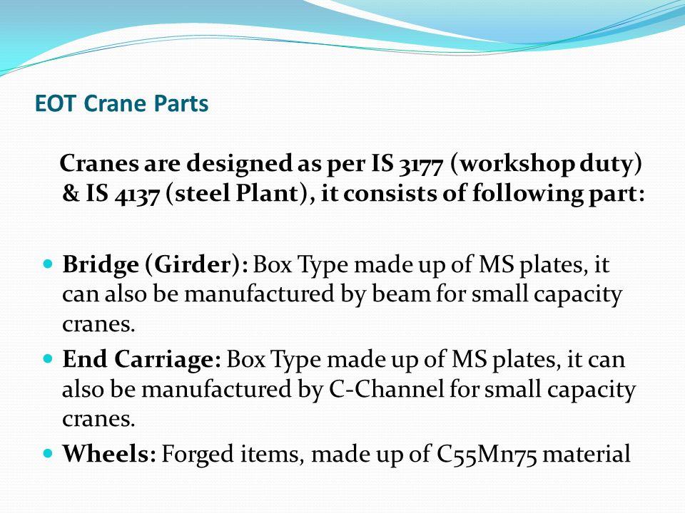 Design of Crane Components - ppt video online download