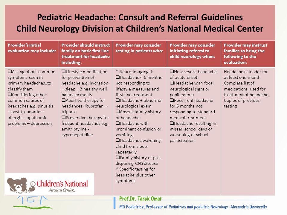 Update In Management Of Childhood Headache - ppt video