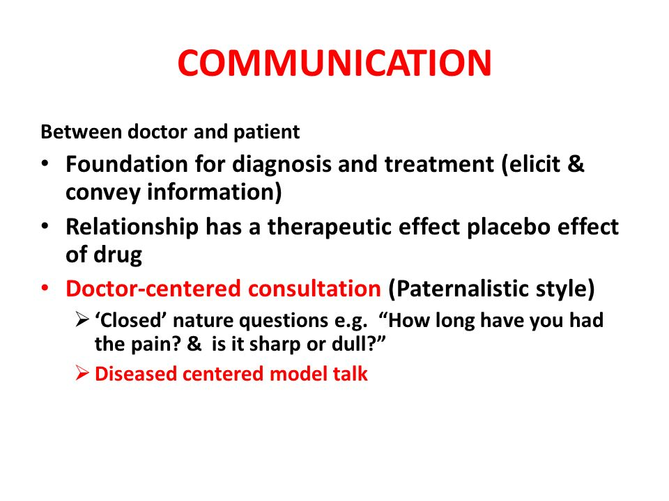 culture language and the doctor patient relationship model