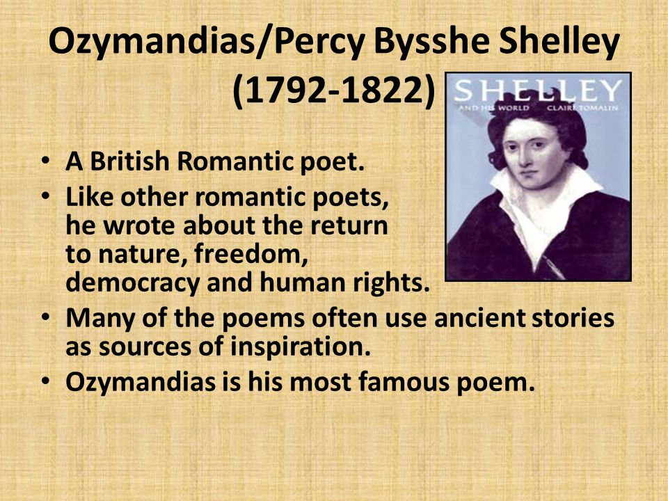 percy shelley ozymandias