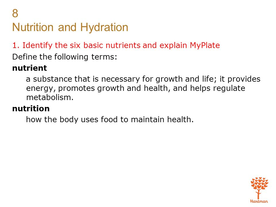 Identify The Six Basic Nutrients And Explain Myplate