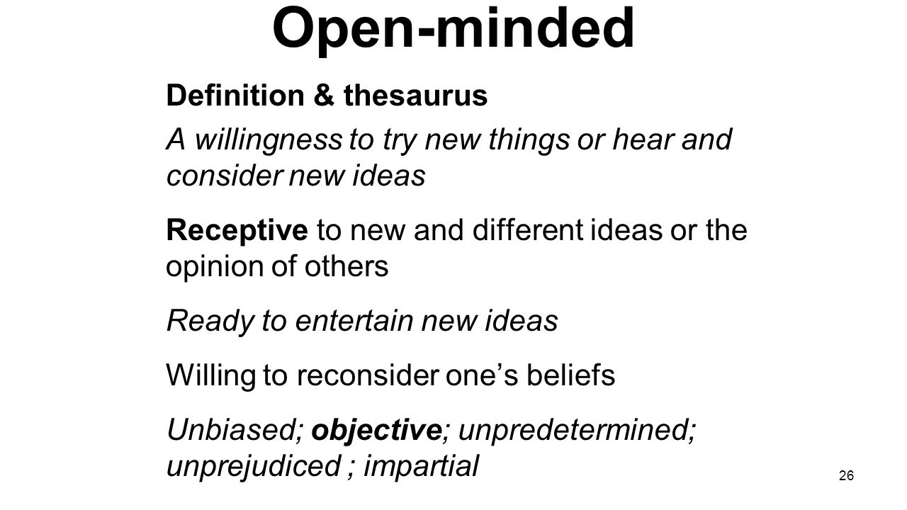 what is the definition of open minded