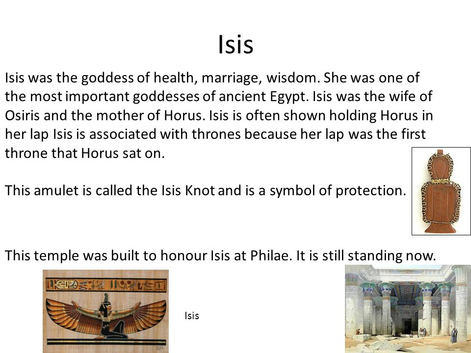 Isis Isis Was The Goddess Of Health Marriage Wisdom She Was One