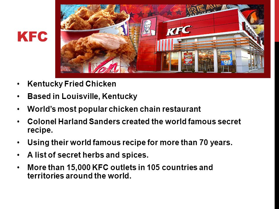 """KFC """"Go Global, Act local"""" - ppt video online download"""