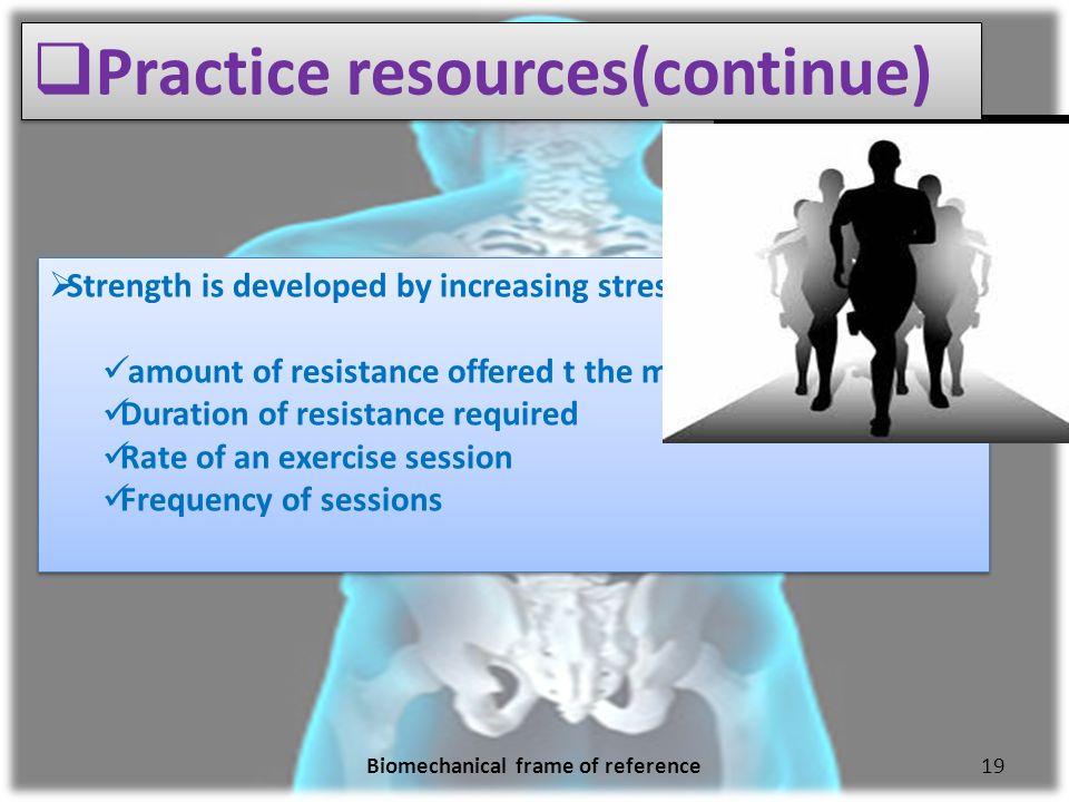biomechanical and rehabilitative frames