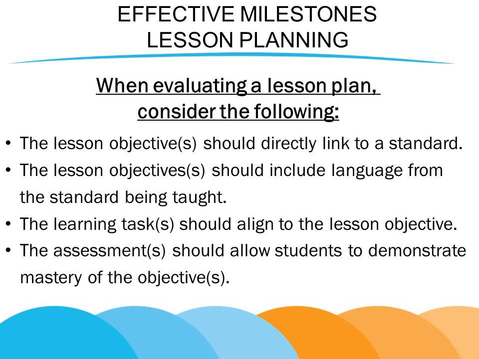 New Milestoneseffective Curriculum Ideas