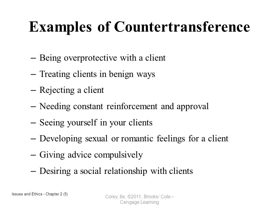 transference countertransference examples